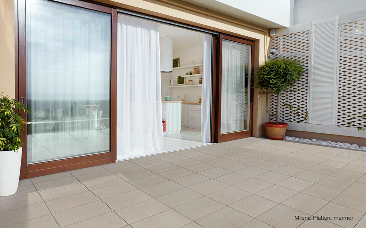 Terrassenplatten quadratisch hell Milena