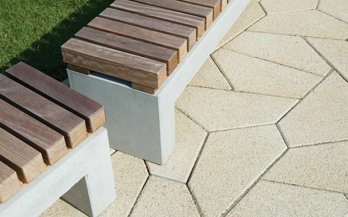 Parkbank Beton FSC Holz