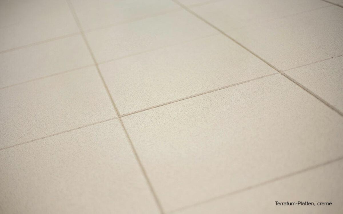 Terratum Platte für Terrassen in creme