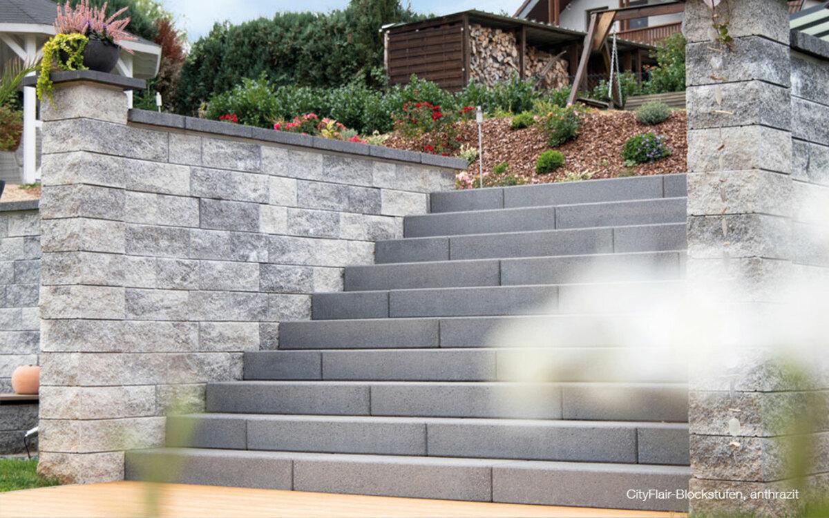 Treppenstufen grau