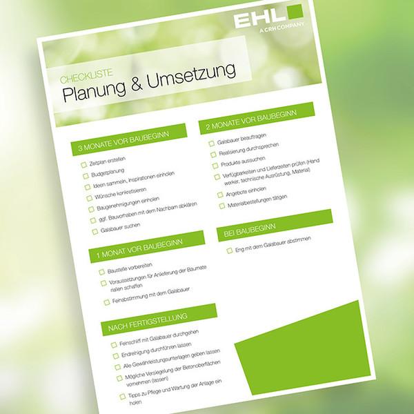Checkliste zur Planung und zum Einbau von Betonsteinen