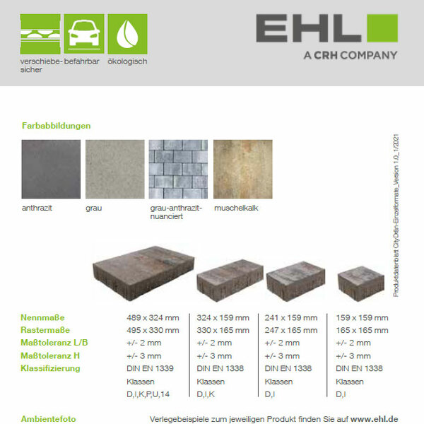 EHL-Datenblatt-CityDraen-Pflaster Einzelformate