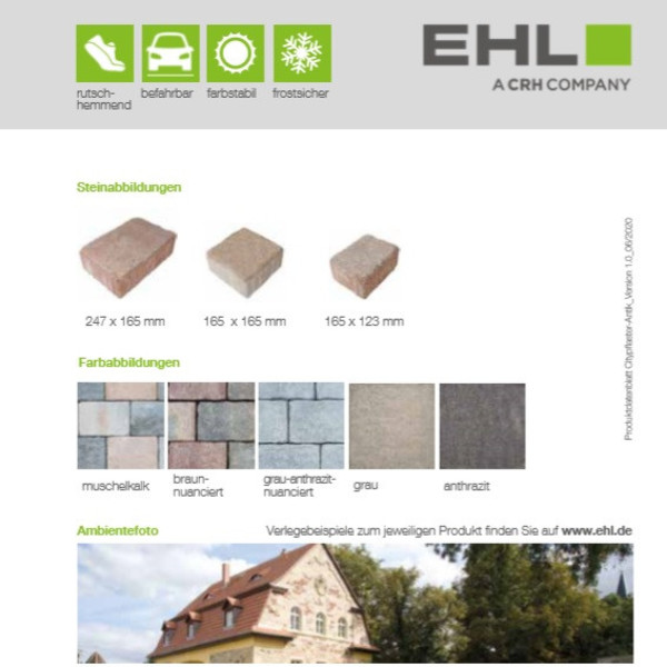 EHL-Datenblatt-Citypflaster Antik