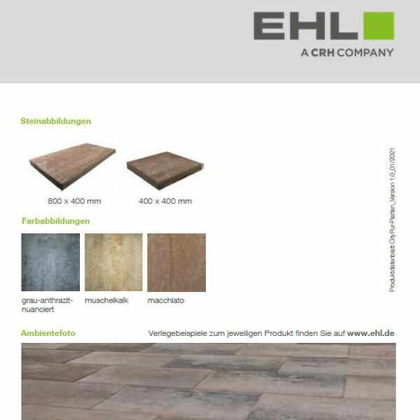 EHL Datenblatt CityPur-Platten