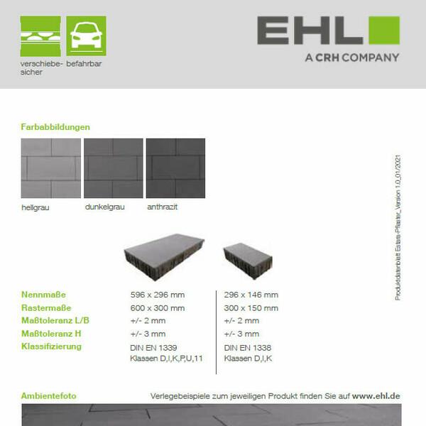 EHL Datenblatt Estara-Pflaster