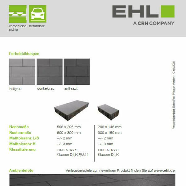 EHL Datenblatt EstaraFeel-Pflaster