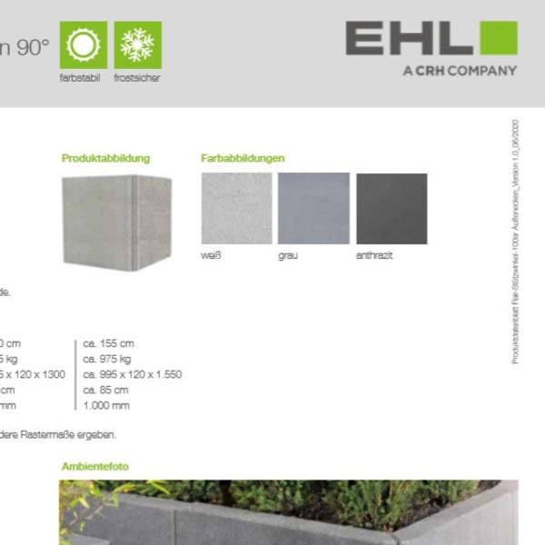 EHL-Datenblatt-Flair Stützwinkel Ecke 100