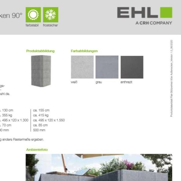 EHL-Datenblatt-Flair Stützwinkel Ecke 50