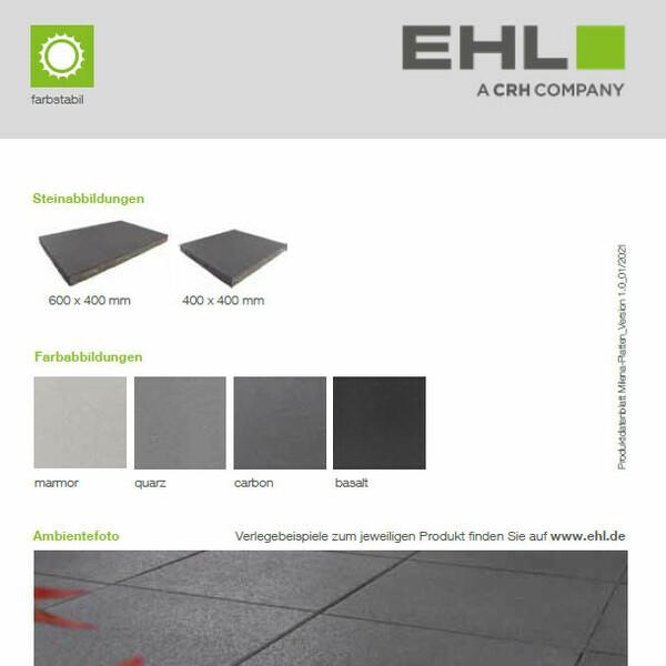 EHL Datenblatt Milena-Platten