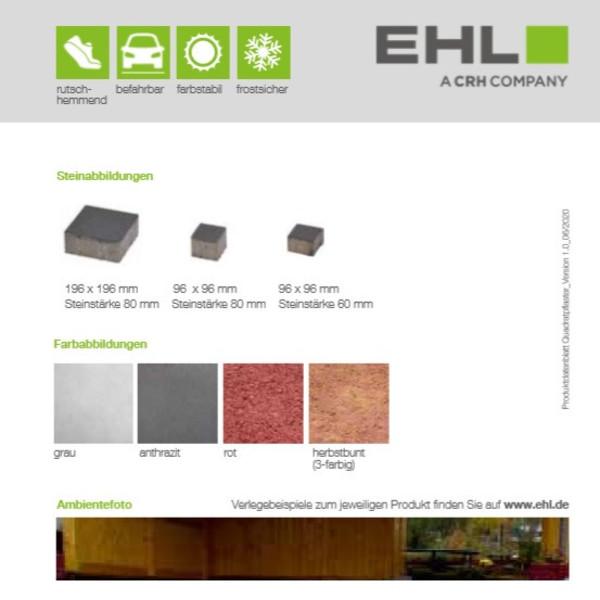 EHL-Datenblatt-Quadratpflaster