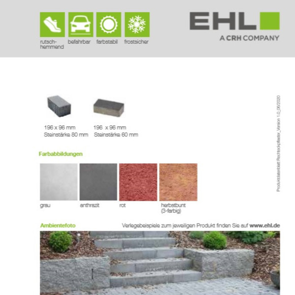 EHL-Datenblatt-Rechteckpflaster