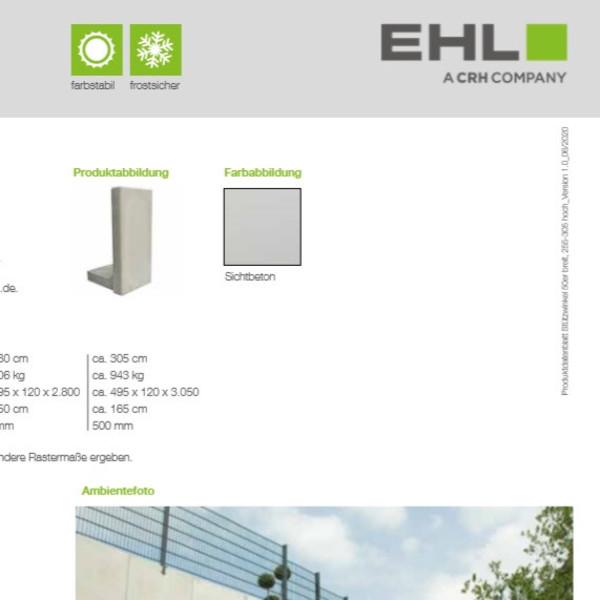 EHL-Datenblatt-Stützwinkel 50 hoch