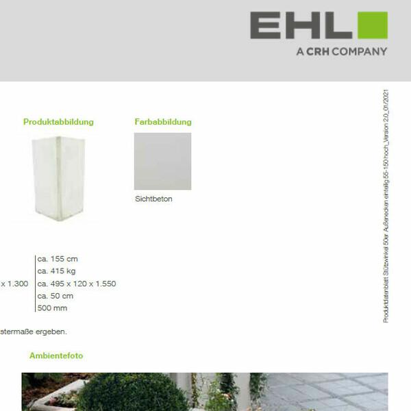 EHL Datenblatt Stützwinkel 50 niedrig Ecke 1tlg