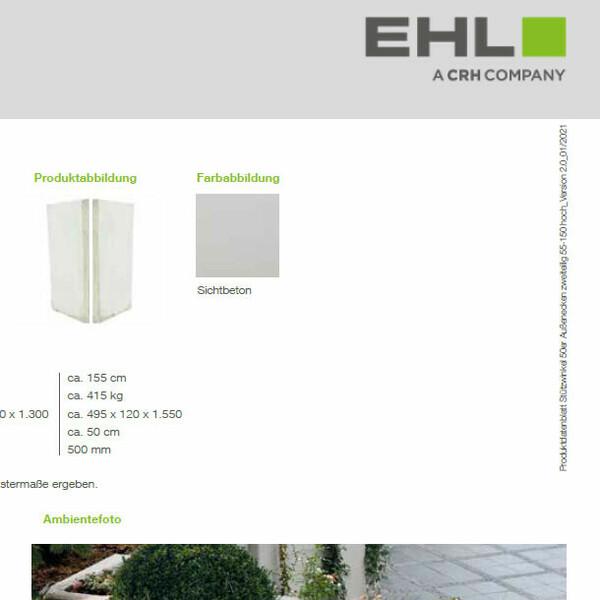 EHL Datenblatt Stützwinkel 50 niedrig Ecke 2tlg