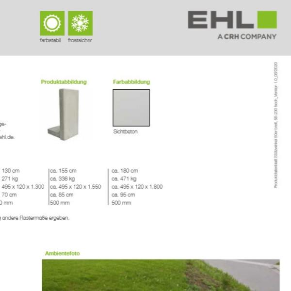 EHL-Datenblatt-Stützwinkel 50 niedrig
