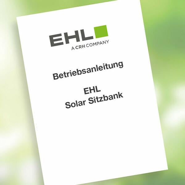 Solar Sitzbank Betriebsanleitung EHL