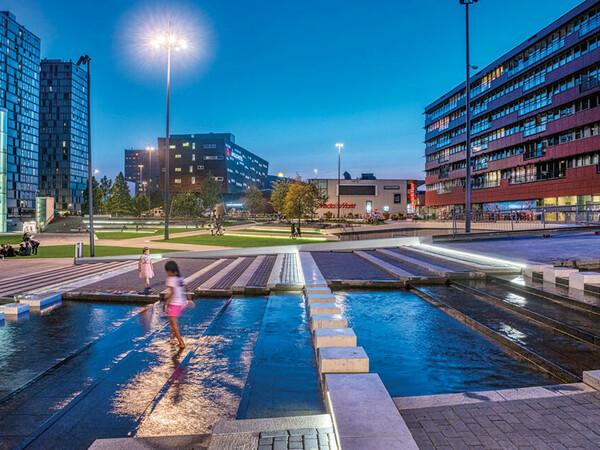 De Esplanade Almere Wasserspiel