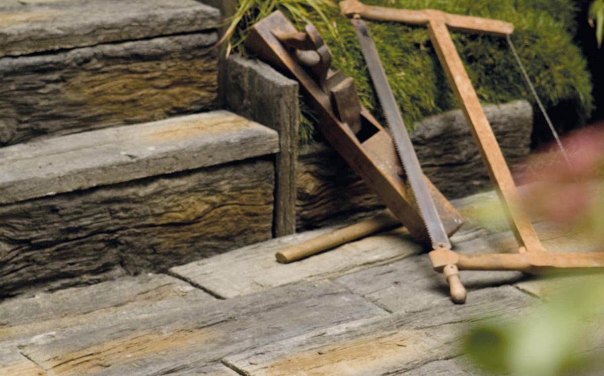 Bahnschwellen Terrassenplatten