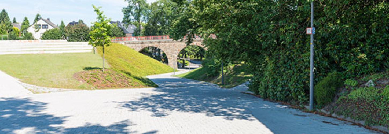 Hefelmannpark Heiligenhaus Park Pflastersteine