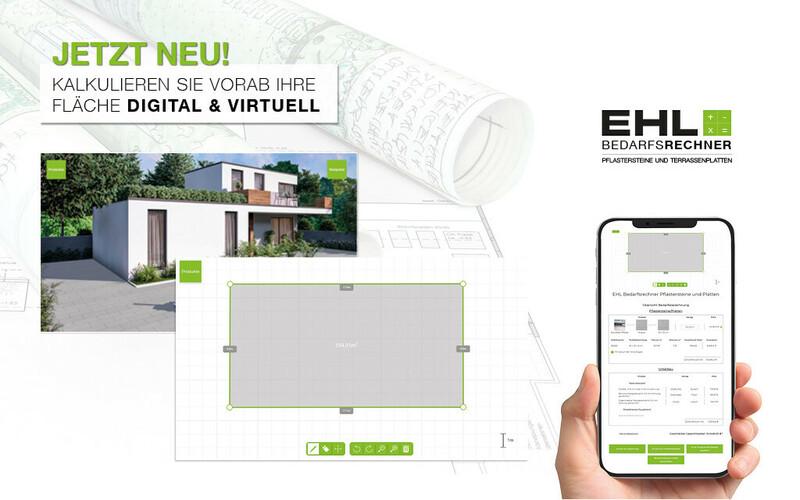 EHL Bedarfsrechner Pflastersteine und Terrassenplatten