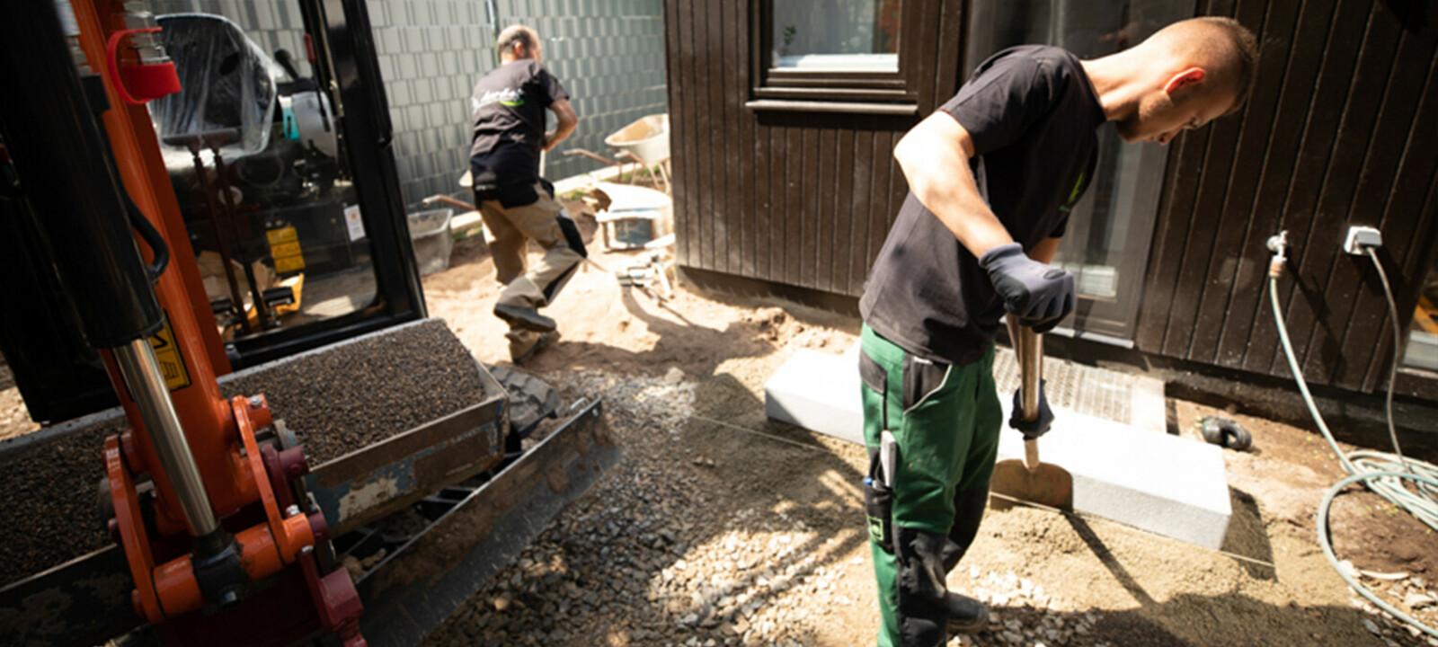 4 Vorbereitung Hauseingang Galabau