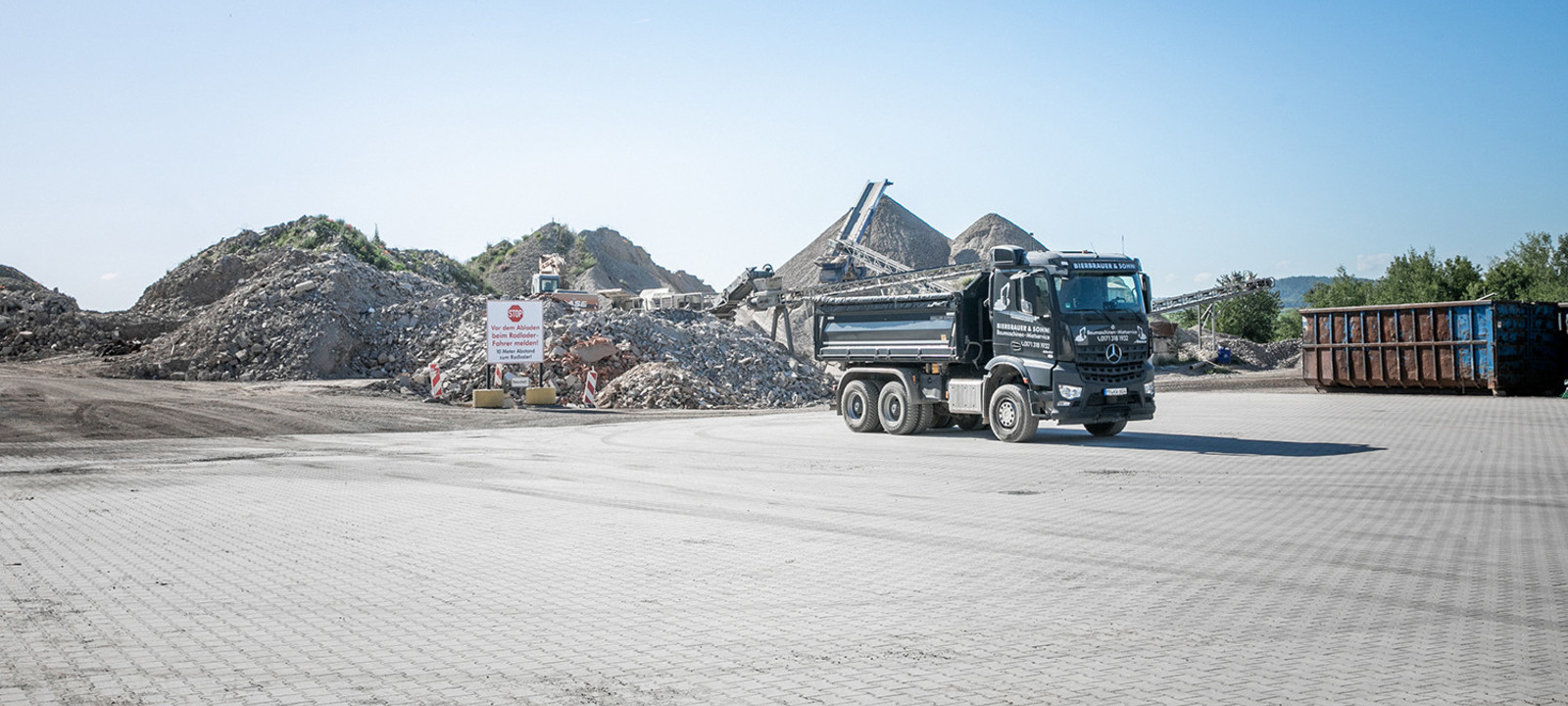 Recyclinghof Anlieferung