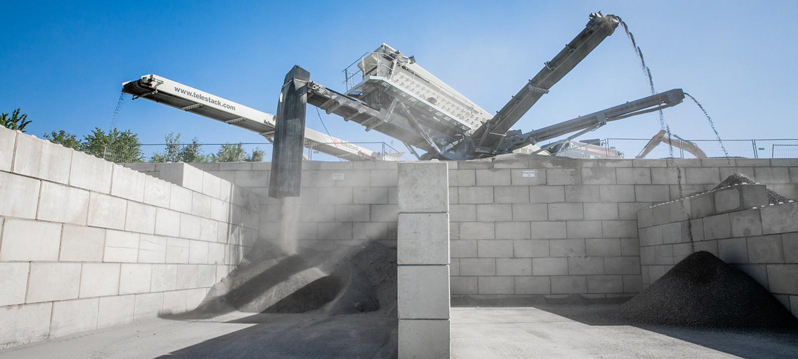 Sortiermaschine Siebmaschine Recycling Beton