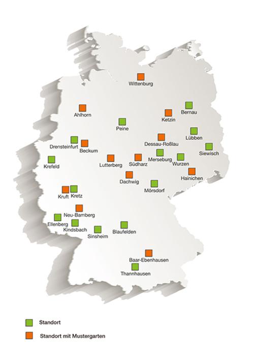 Standorte EHL Karte