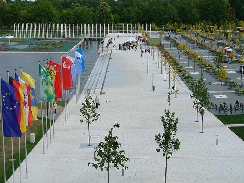 Buga Schwerin mit Parkplatz