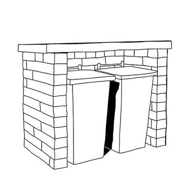 Mülltonnenbox Anbario ohne Türen