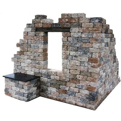 Ruine mit Bank